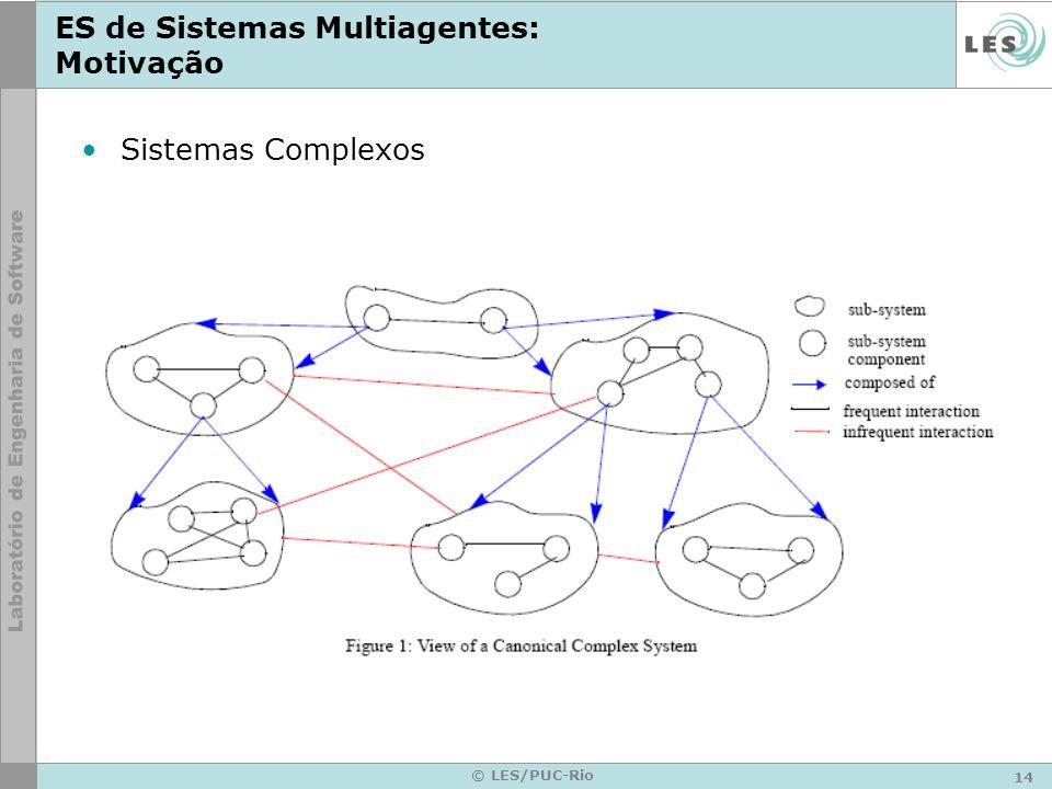 ES de Sistemas Multiagentes: Motivação