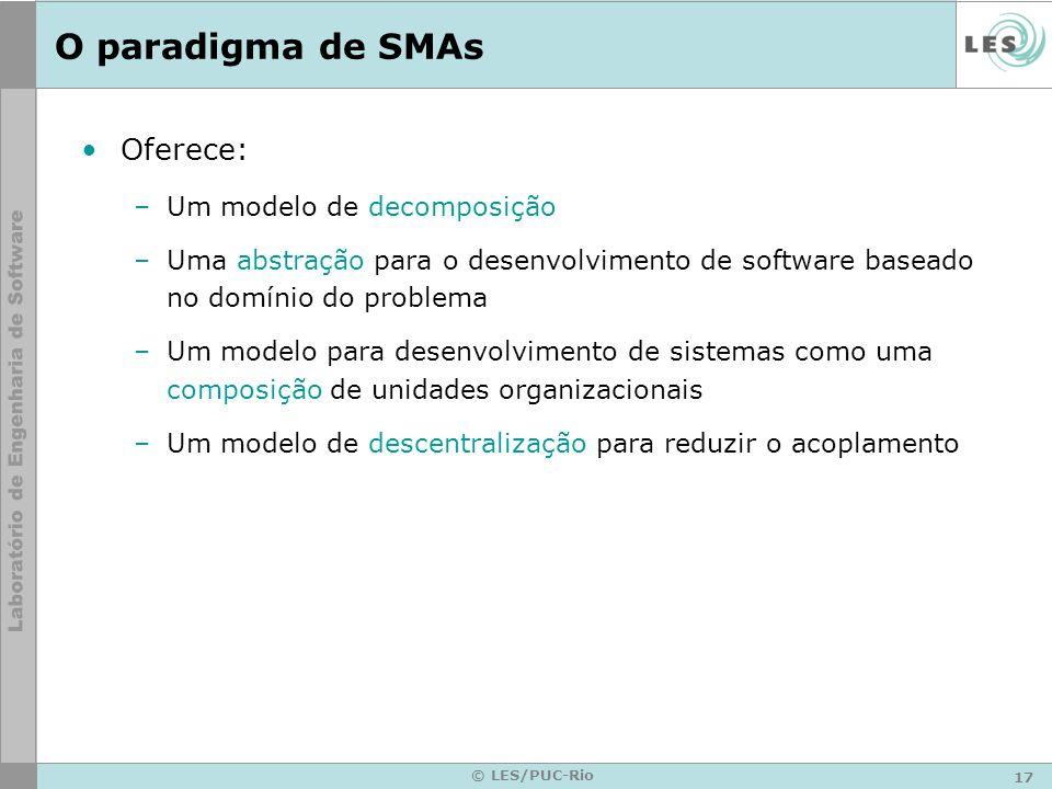 O paradigma de SMAs Oferece: Um modelo de decomposição