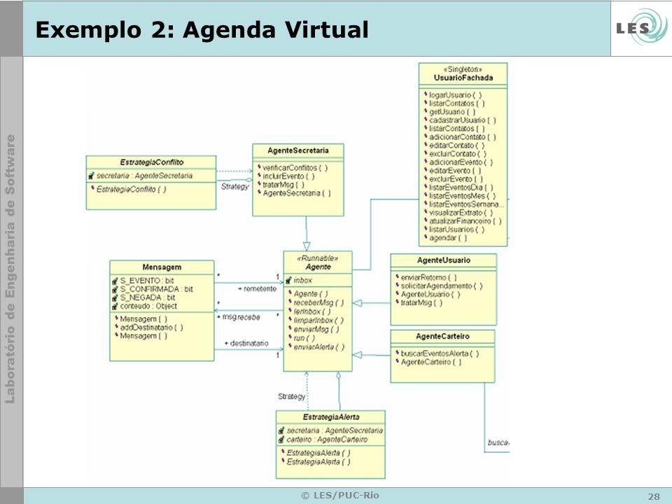 Exemplo 2: Agenda Virtual