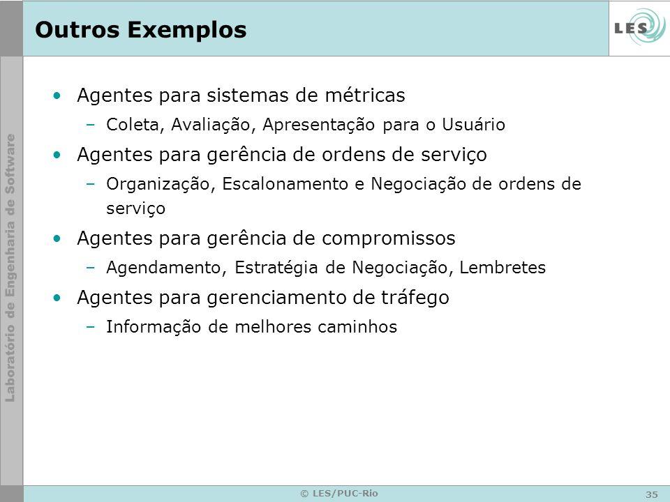 Outros Exemplos Agentes para sistemas de métricas
