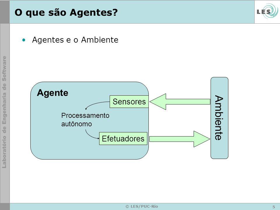 Ambiente O que são Agentes Agente Agentes e o Ambiente Sensores