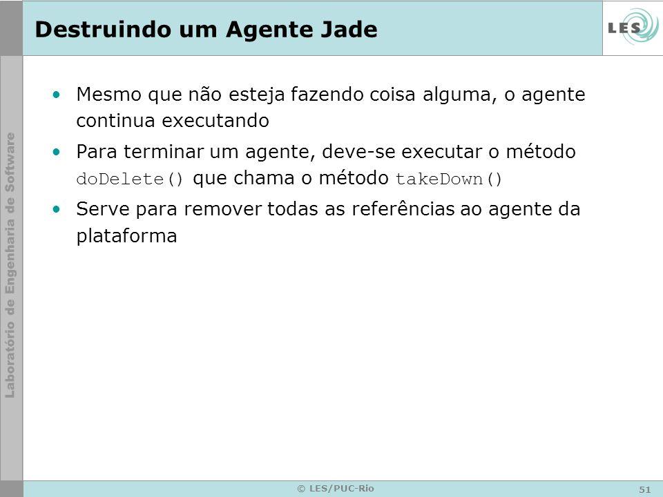 Destruindo um Agente Jade