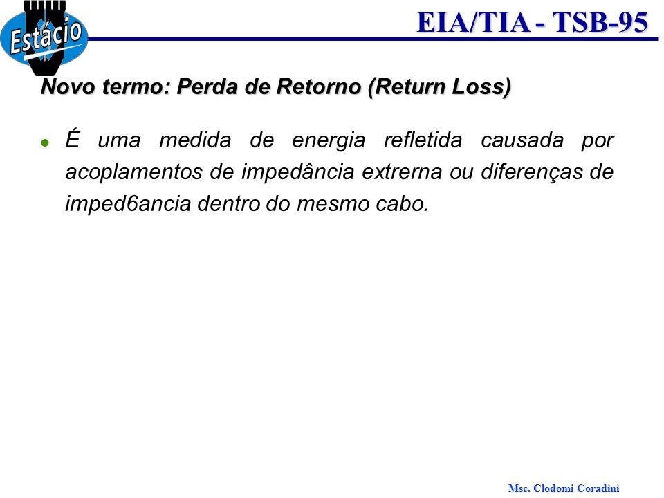 Novo termo: Perda de Retorno (Return Loss)