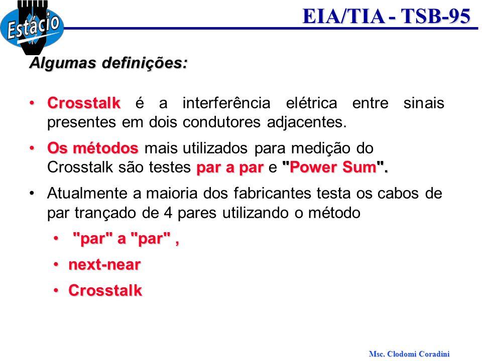 Algumas definições: Crosstalk é a interferência elétrica entre sinais presentes em dois condutores adjacentes.