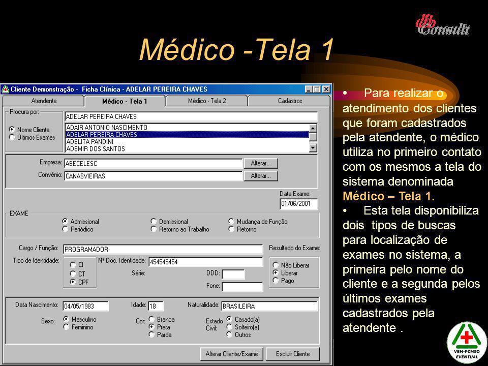 Médico -Tela 1