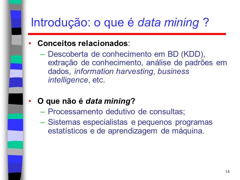 Introdução: o que é data mining