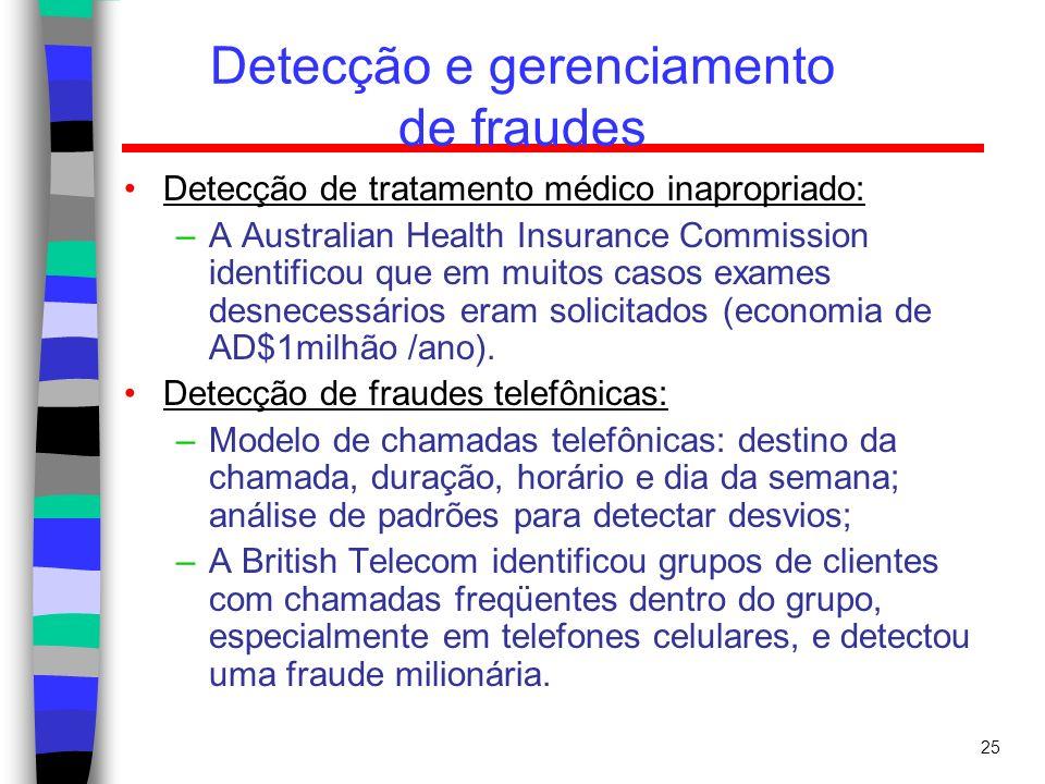 Detecção e gerenciamento de fraudes