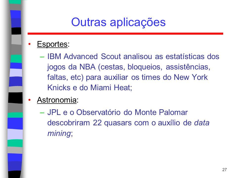 Outras aplicações Esportes: