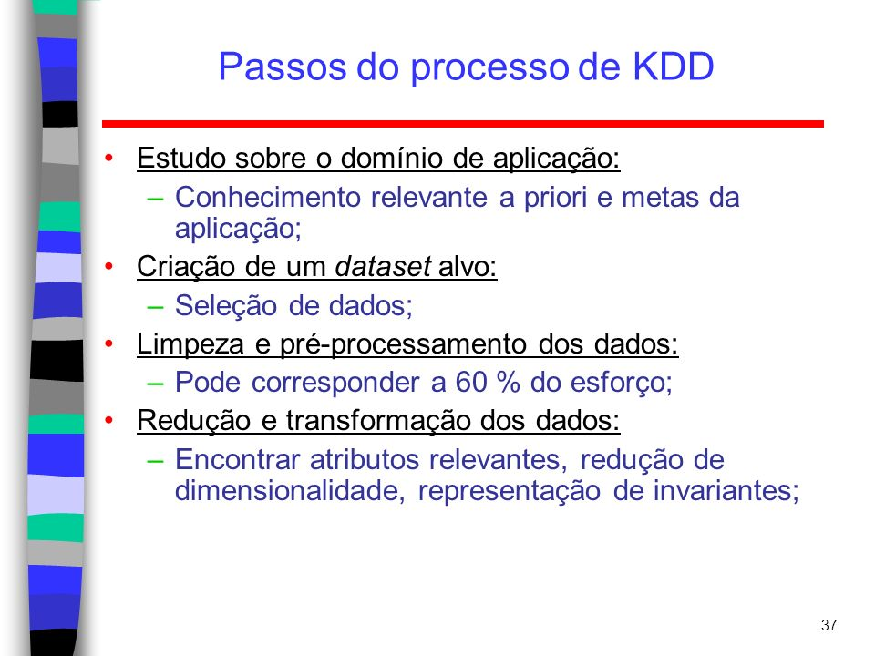 Passos do processo de KDD