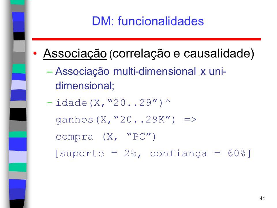 Associação (correlação e causalidade)