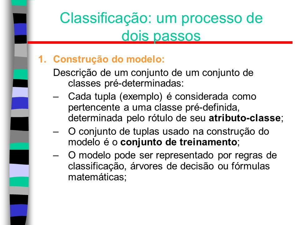 Classificação: um processo de dois passos