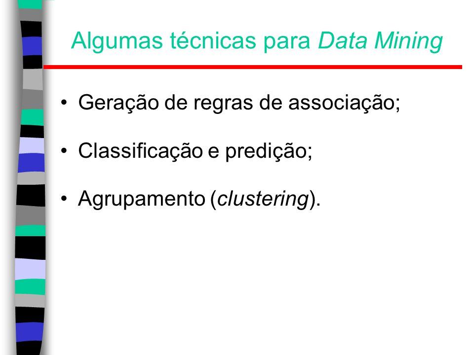 Algumas técnicas para Data Mining