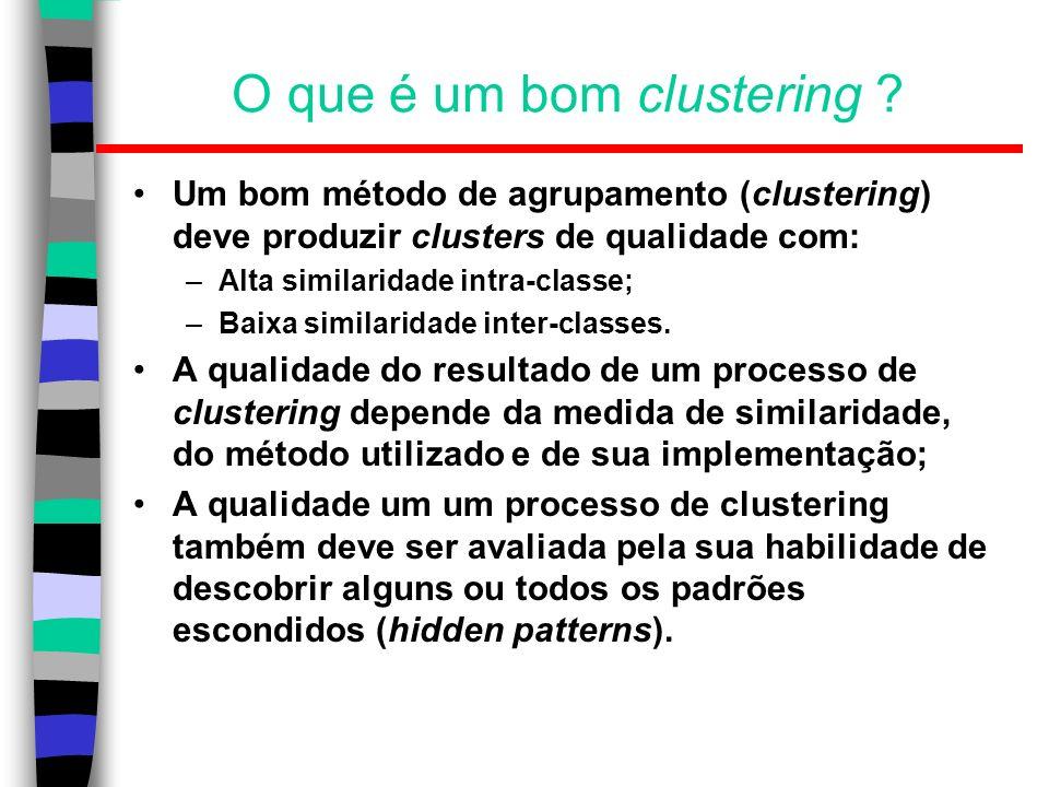 O que é um bom clustering