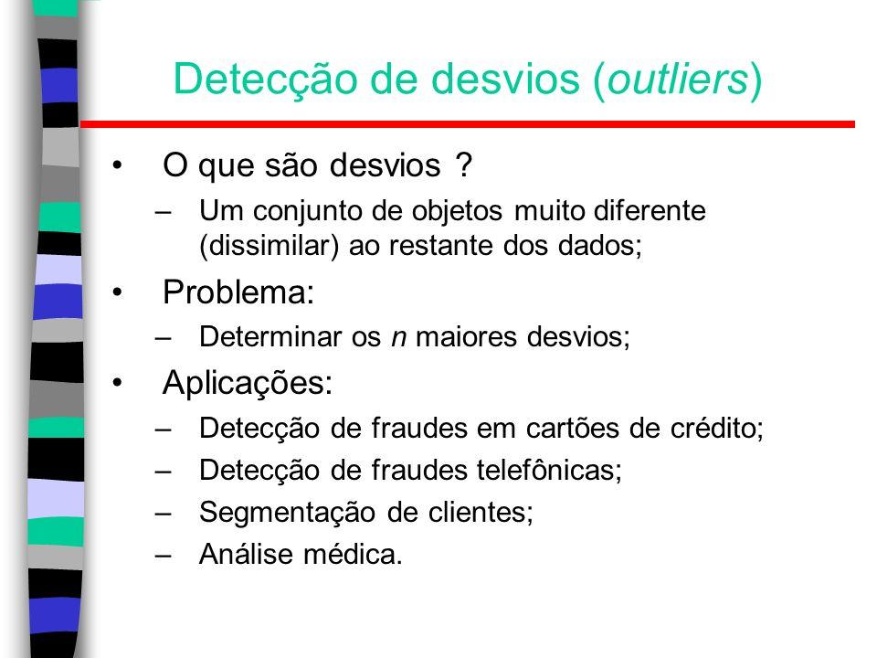 Detecção de desvios (outliers)