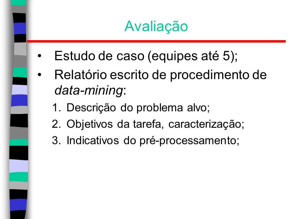 Avaliação Estudo de caso (equipes até 5);
