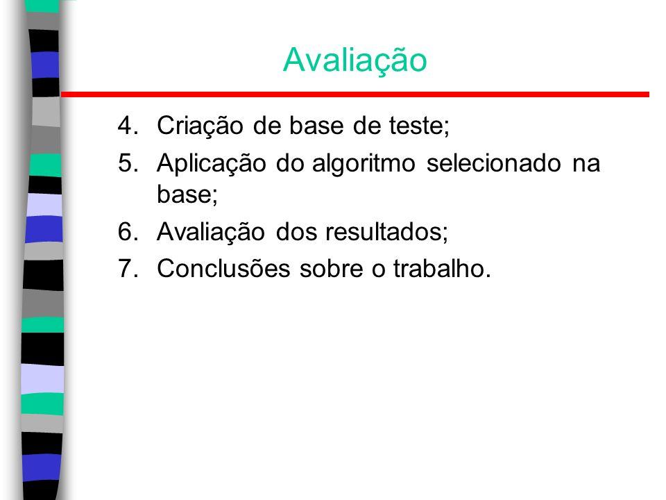 Avaliação Criação de base de teste;