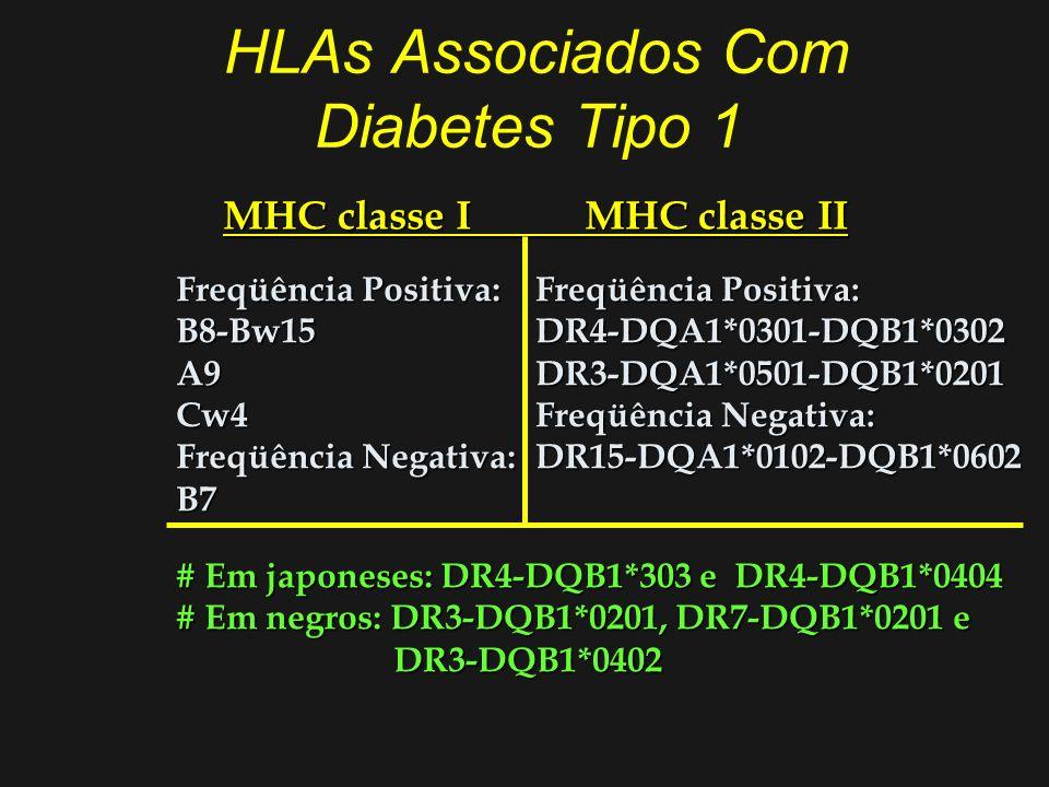 HLAs Associados Com Diabetes Tipo 1
