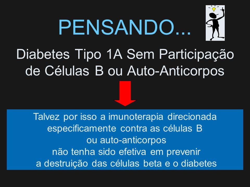 Diabetes Tipo 1A Sem Participação de Células B ou Auto-Anticorpos