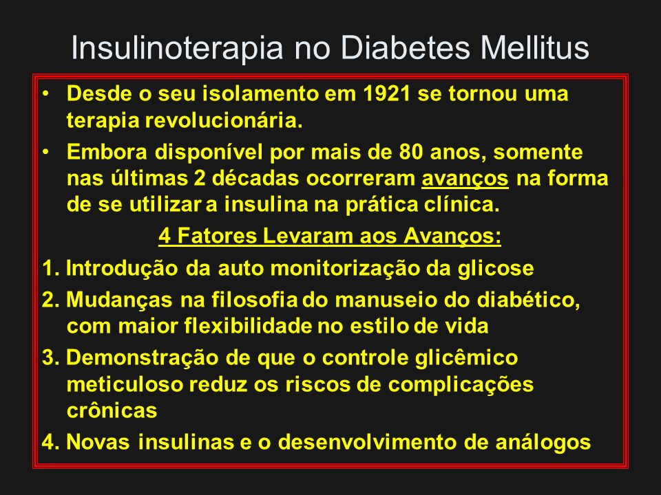Insulinoterapia no Diabetes Mellitus