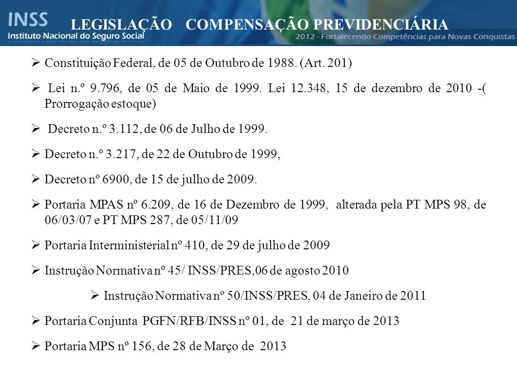 Instrução Normativa nº 50/INSS/PRES, 04 de Janeiro de 2011