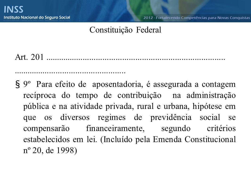 Constituição Federal Art. 201 ..................................................................................