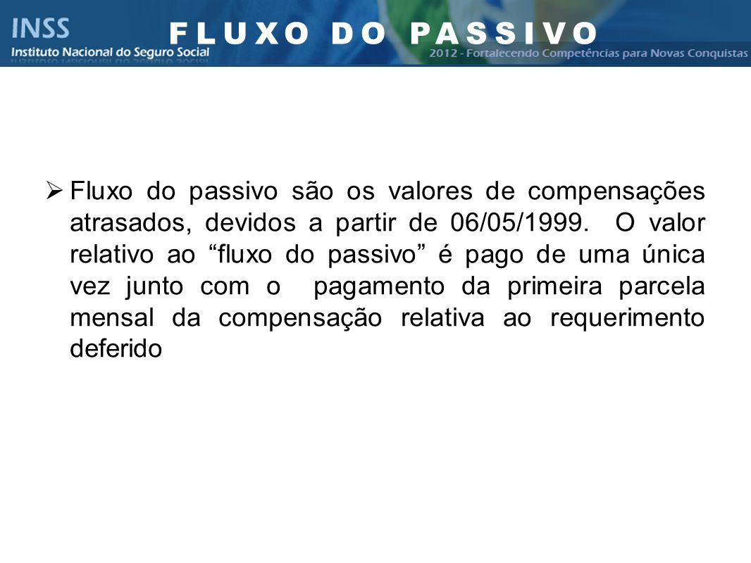 FLUXO DO PASSIVO