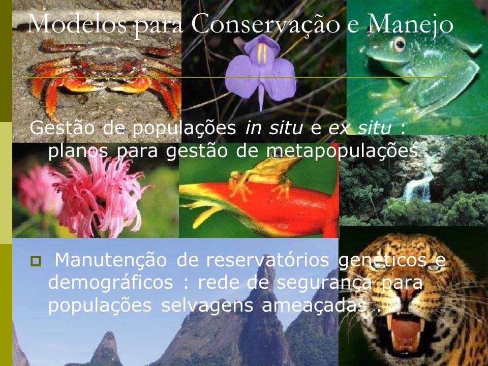 Modelos para Conservação e Manejo