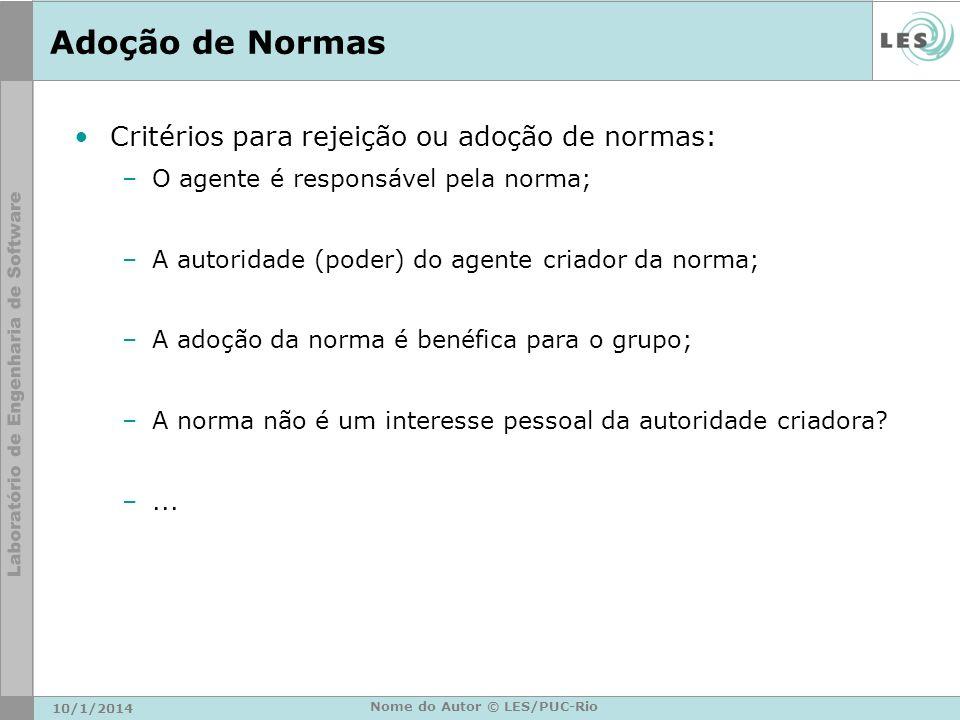 Nome do Autor © LES/PUC-Rio