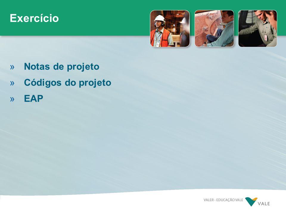 Exercício Notas de projeto Códigos do projeto EAP