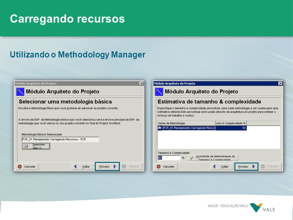 Carregando recursos Utilizando o Methodology Manager