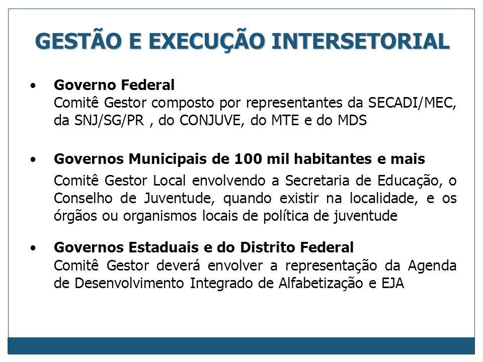 GESTÃO E EXECUÇÃO INTERSETORIAL