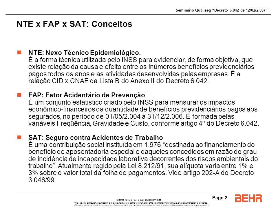NTE x FAP x SAT: Conceitos