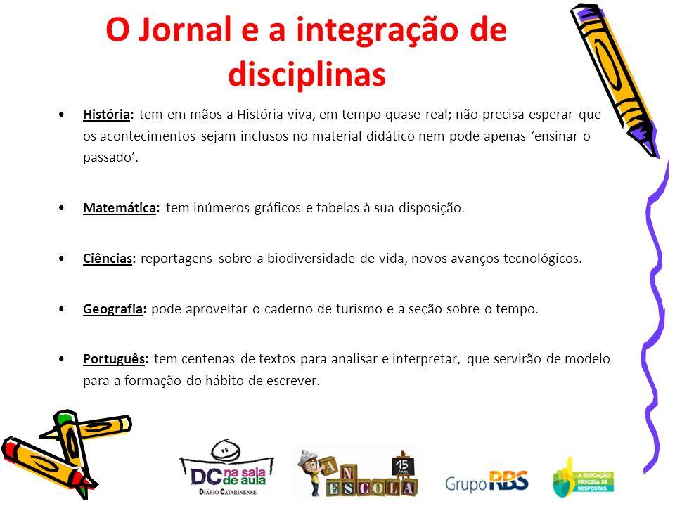 O Jornal e a integração de disciplinas