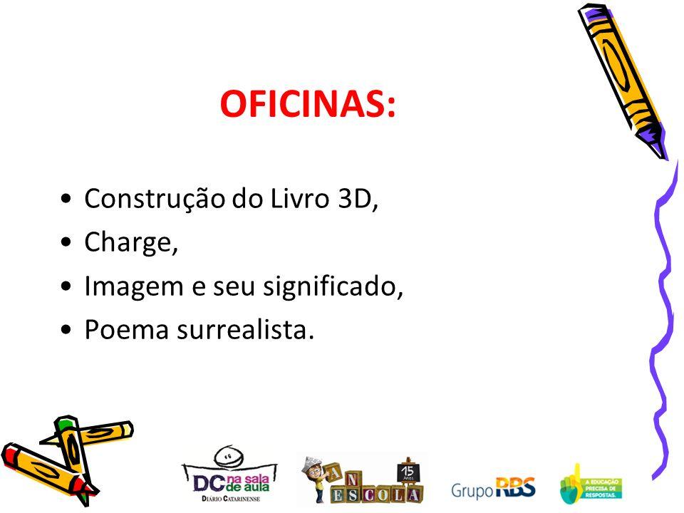 OFICINAS: Construção do Livro 3D, Charge, Imagem e seu significado,