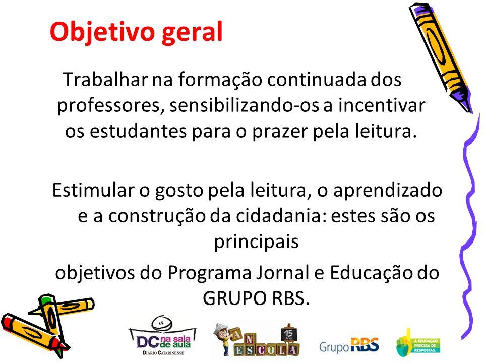 objetivos do Programa Jornal e Educação do GRUPO RBS.