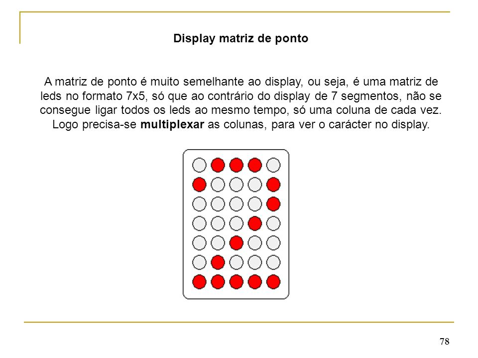 Display matriz de ponto