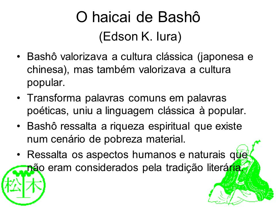O haicai de Bashô (Edson K. Iura)