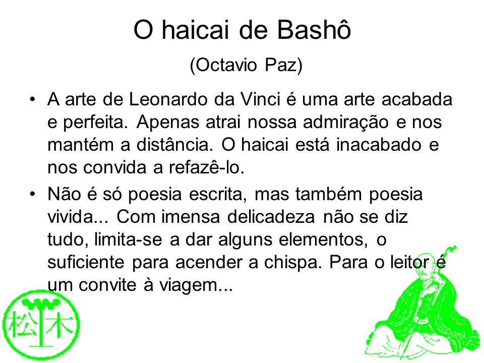 O haicai de Bashô (Octavio Paz)