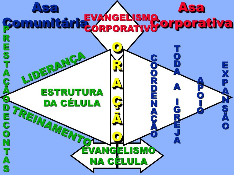 Asa Comunitária Asa Corporativa O R A Ç Ã LIDERANÇA TREINAMENTO