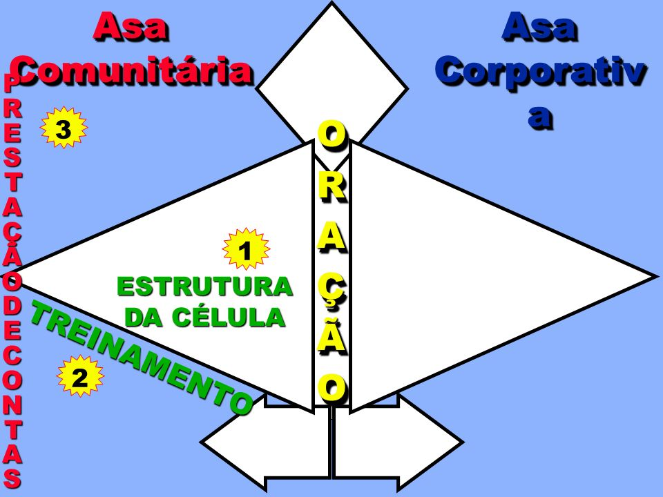 Asa Comunitária Asa Corporativa O R A Ç Ã TREINAMENTO PRESTAÇÃO 3 DE