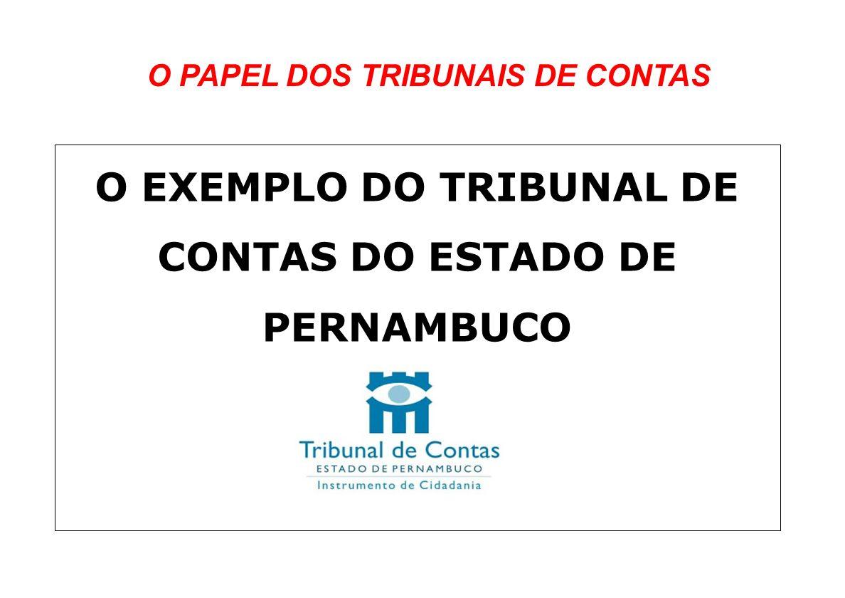 O EXEMPLO DO TRIBUNAL DE CONTAS DO ESTADO DE PERNAMBUCO