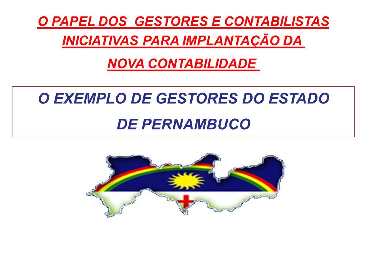 O EXEMPLO DE GESTORES DO ESTADO DE PERNAMBUCO
