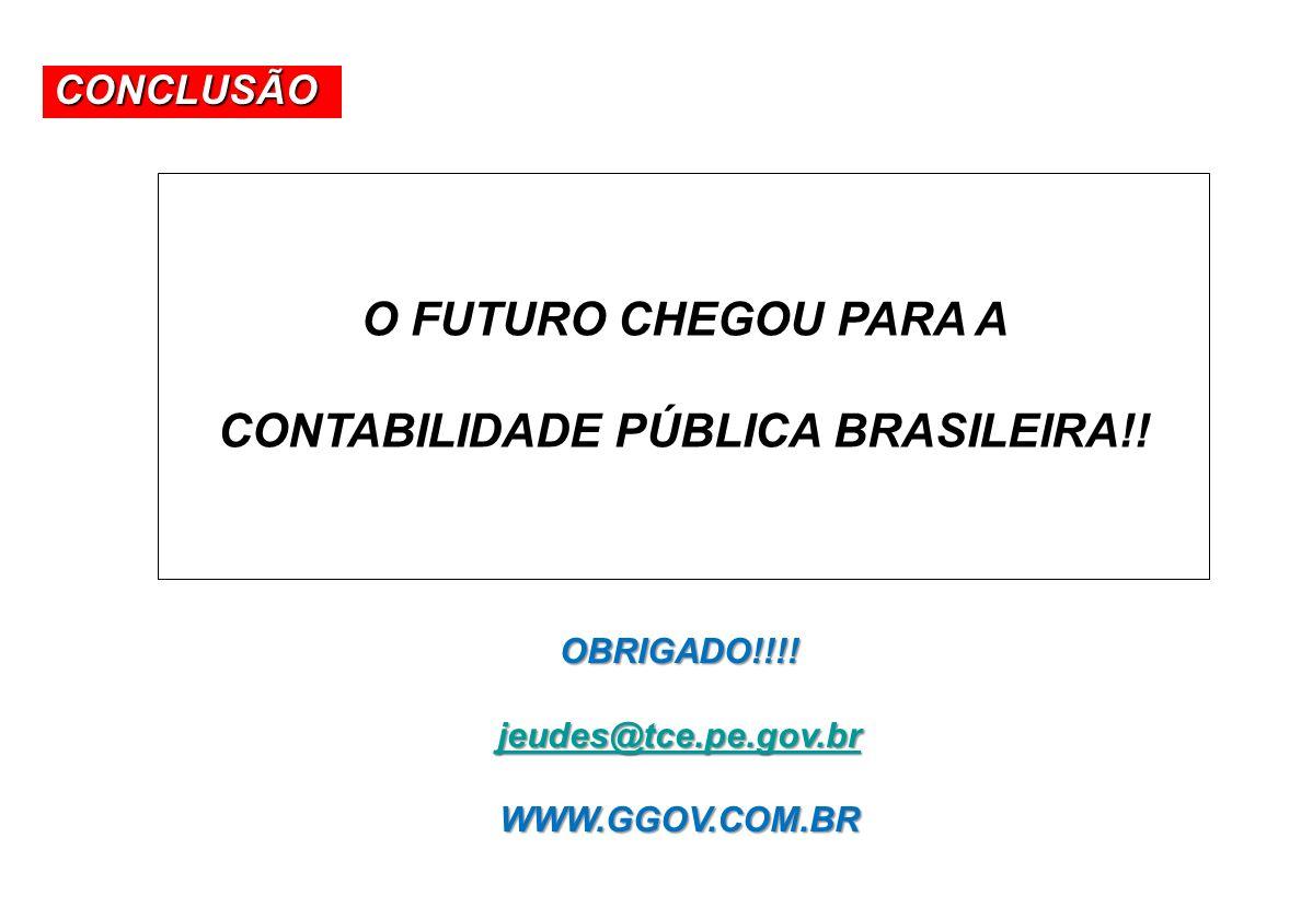 CONTABILIDADE PÚBLICA BRASILEIRA!!