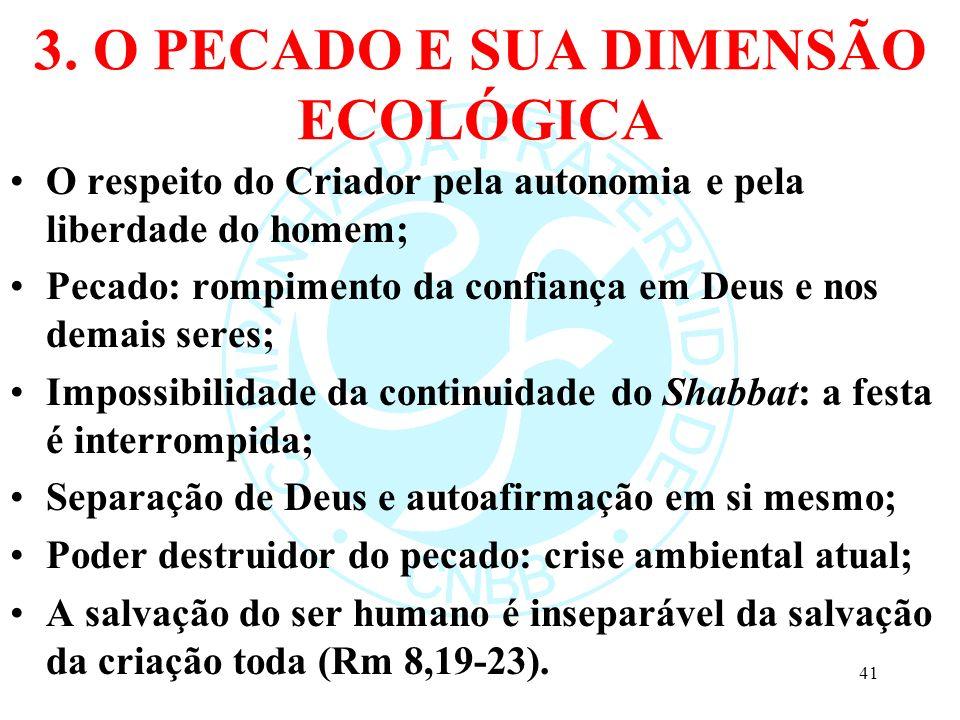 3. O PECADO E SUA DIMENSÃO ECOLÓGICA