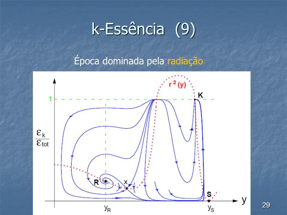 k-Essência (9) Época dominada pela radiação