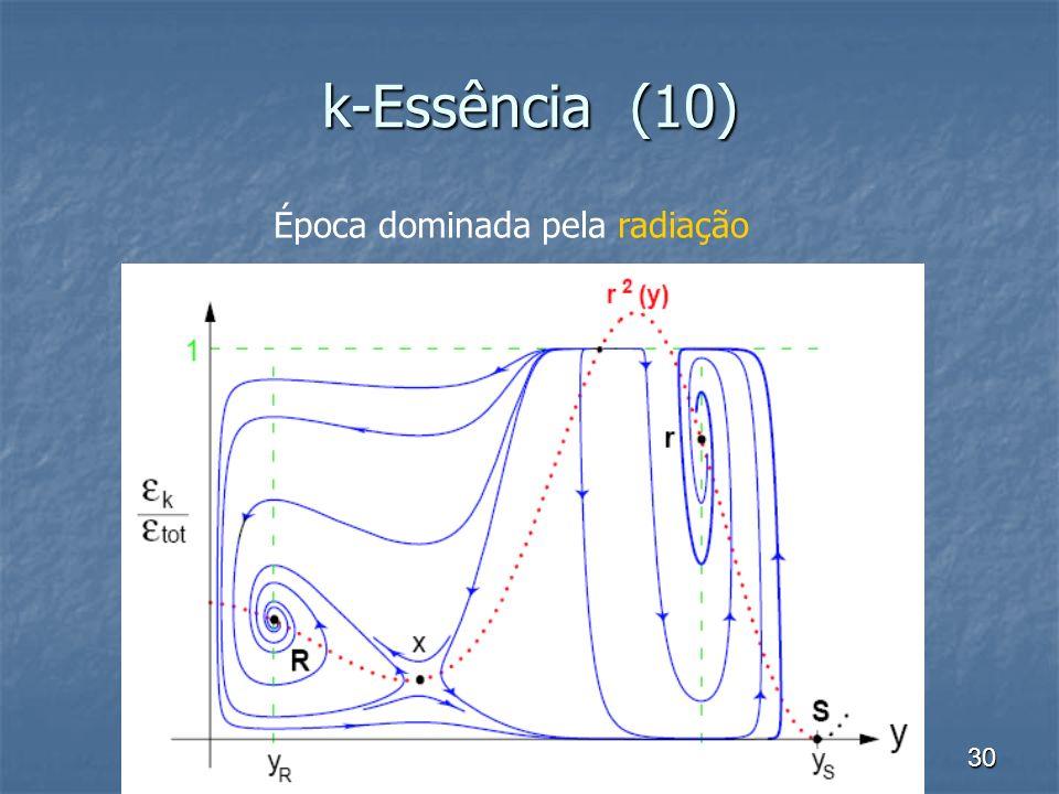 k-Essência (10) Época dominada pela radiação