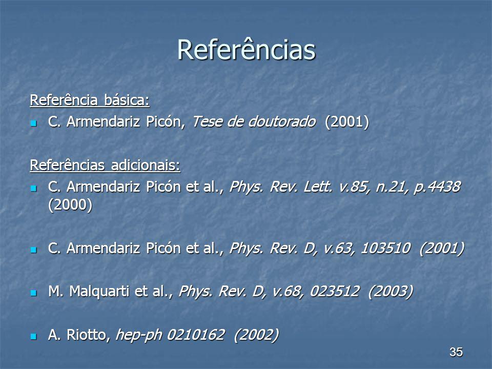 Referências Referência básica:
