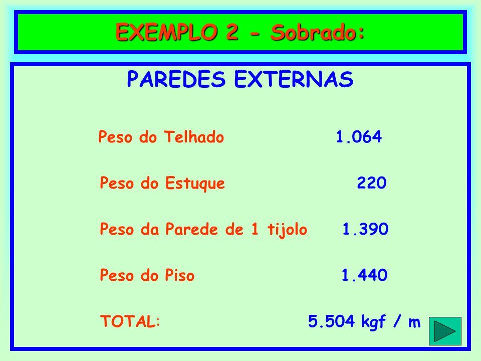 EXEMPLO 2 - Sobrado: PAREDES EXTERNAS