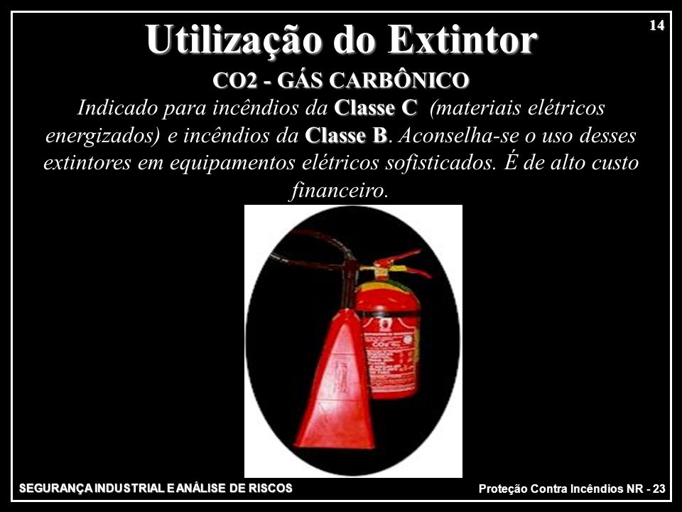 Utilização do Extintor