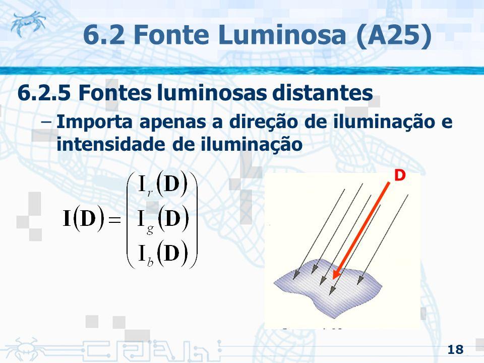 6.2 Fonte Luminosa (A25) 6.2.5 Fontes luminosas distantes